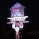 village sign at night